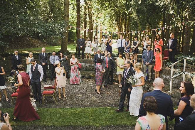 Pamela and Ken Beautiful Outdoor Wedding Ceremony in Station House Hotel 0125
