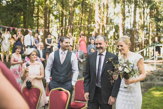 Pamela and Ken Beautiful Outdoor Wedding Ceremony in Station House Hotel 0126