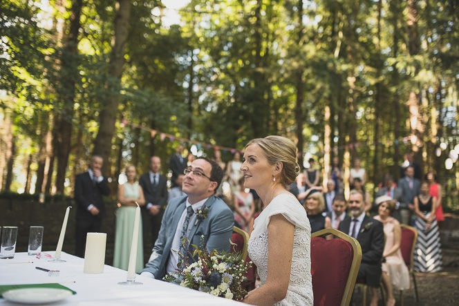 Pamela and Ken Beautiful Outdoor Wedding Ceremony in Station House Hotel 0131