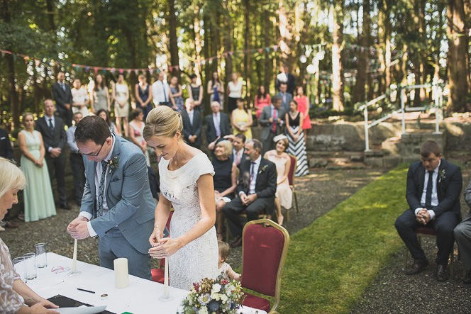 Pamela and Ken Beautiful Outdoor Wedding Ceremony in Station House Hotel 0134