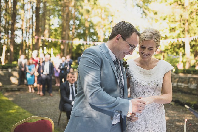 Pamela and Ken Beautiful Outdoor Wedding Ceremony in Station House Hotel 0139