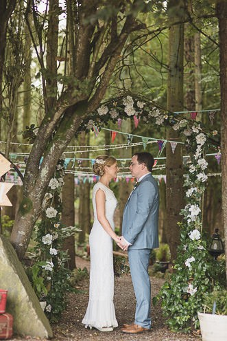 Pamela and Ken Beautiful Outdoor Wedding Ceremony in Station House Hotel 0151