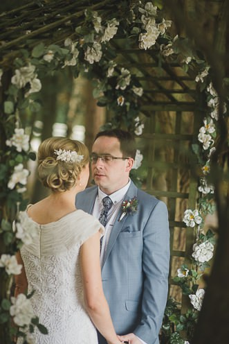 Pamela and Ken Beautiful Outdoor Wedding Ceremony in Station House Hotel 0152