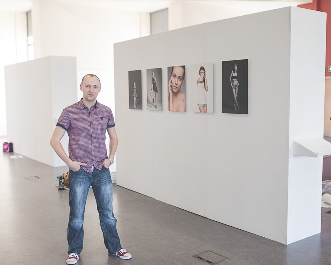 End of year exhibition in griffith college dublin prepearation for opening night by tomasz kornas alternative wedding photographer (17)