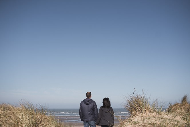 Ursula and Colin Engagement Shoot at Portmarnock Beach in Dublin by Alternative Irish Wedding Photographer (14)