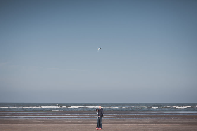 Ursula and Colin Engagement Shoot at Portmarnock Beach in Dublin by Alternative Irish Wedding Photographer (20)