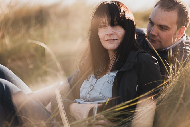 Ursula and Colin Engagement Shoot at Portmarnock Beach in Dublin by Alternative Irish Wedding Photographer (31)