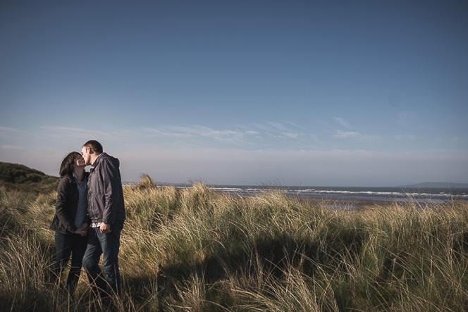 Ursula and Colin Engagement Shoot at Portmarnock Beach in Dublin by Alternative Irish Wedding Photographer (34)