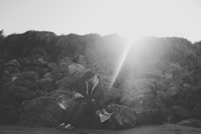 Ursula and Colin Engagement Shoot at Portmarnock Beach in Dublin by Alternative Irish Wedding Photographer (36)