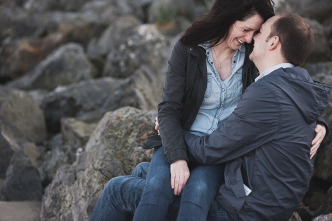 Ursula and Colin Engagement Shoot at Portmarnock Beach in Dublin by Alternative Irish Wedding Photographer (37)
