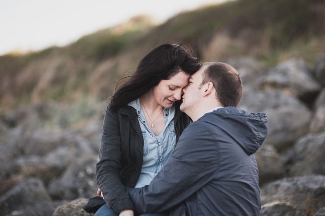 Ursula and Colin Engagement Shoot at Portmarnock Beach in Dublin by Alternative Irish Wedding Photographer (38)