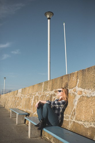 Natural outdoor portraits with megan bea tiernan in Dun Laoghaire Pier Ireland 0047