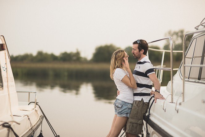 Louise and Kieran Natural relaxed pre wedding photography at lake 0026