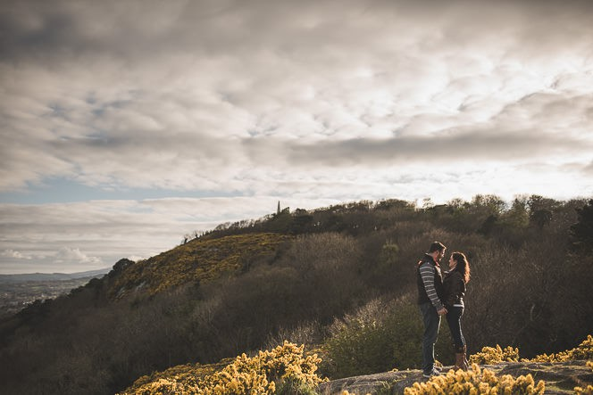 jacqui and conor beautiful natural engagement shoot in killiney hill dublin ireland documentary style by tomasz kornas 020
