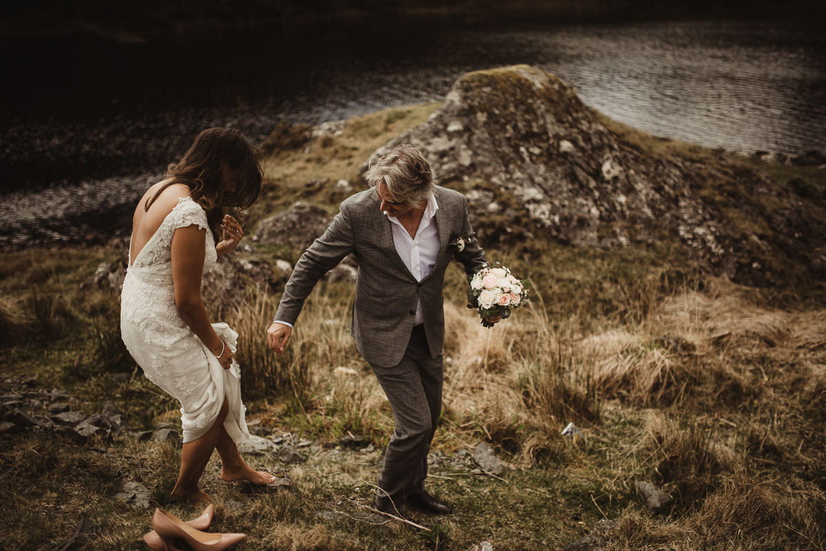 ballynahinch castle ireland wedding elopement connemara mayo beautiful irish wedding 043