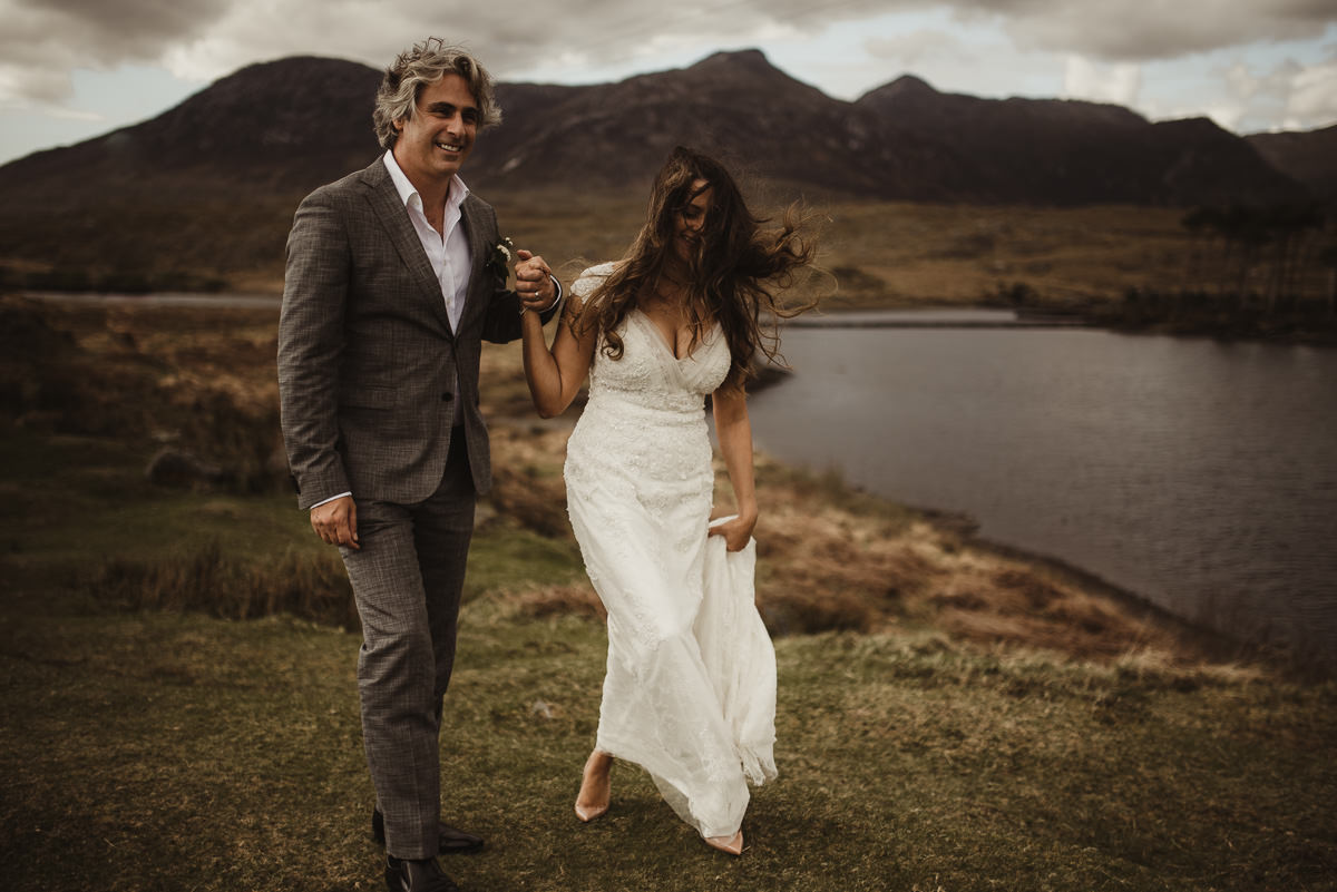 ballynahinch castle ireland wedding elopement connemara mayo beautiful irish wedding 047