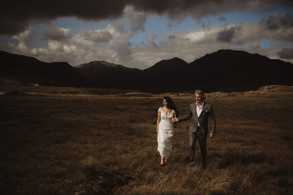 ballynahinch castle ireland wedding elopement connemara mayo beautiful irish wedding 070